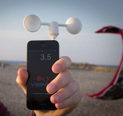 Wind-Measuring Phone Gadgets - This SmartPhone Wind Meter is Perfect for Wind Sport Enthusiasts