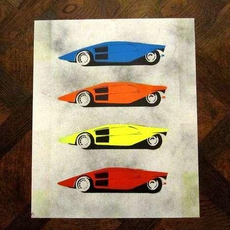 Vivid Vintage Car Paintings