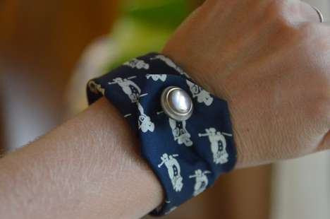 Upcycled Necktie Bangles - This Creative DIY Activity Turns Retro Ties into Brand New Bracelets