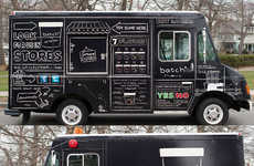 Chalkboard Confectionery Branding - Ice Cream Trucks Become Sophisticated and Chic with Batch