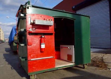 Repurposed Dumpster Houses