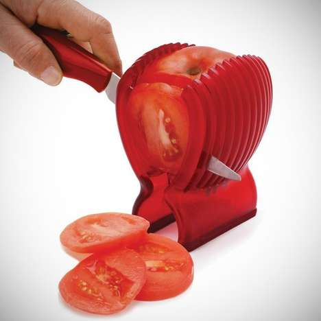 Precise Tomato-Slicing Sets - Easily Slice Tomatoes with This Handy Kitchen Tool