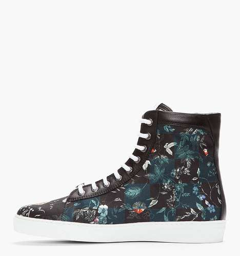 Checkerboard Floral Kicks