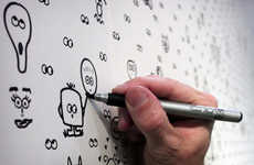 Doodle-Encouraging Wallpaper - This Interactive Wallpaper Makes Drawing on the Walls Possible