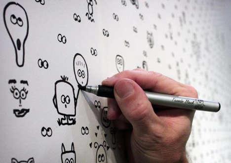 Doodle-Encouraging Wallpaper