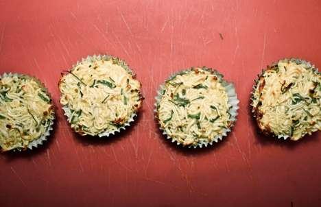 Crunchy Noodle Cupcakes