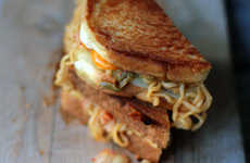 Instant Noodle Sandwiches - This Creative Instant Noodle Dish is a Variation of a Grilled Cheese