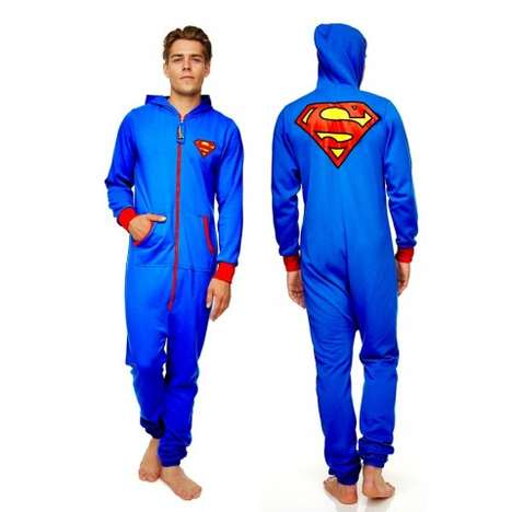 Heroic Adult Onesies - This Official Superman Superhero Onesie Fights Evil and Discomfort