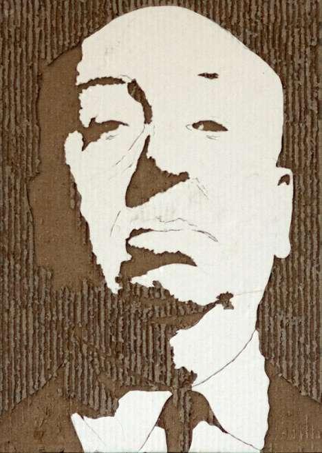 Cardboard Celebrity Portraits