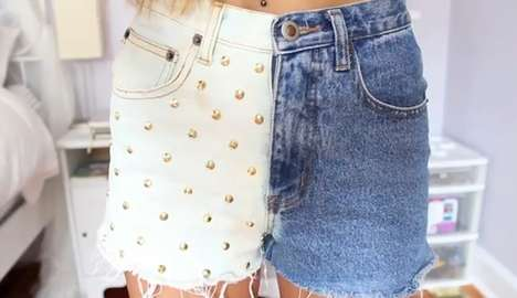 DIY Dip-Dyed Cutoffs