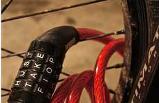 Lettered Bike Locks - The WordLock Cable Bike Lock Uses Language for Safety