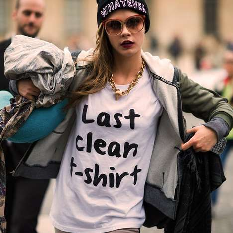 Honest Laundry Day Tees - The 'Last Clean T-Shirt' Brings Humor to Laundry Day