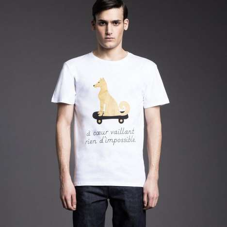 Cute Canine-Captioned Tees
