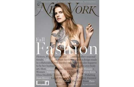Lake Bell Models Tattoo Art for New York Magazine