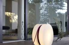 Illuminating Yo-Yo Lamps - The 'Yoyo' Floor Lamp by Authentics Features the Iconic Yo-Yo Design