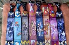 Whimsical Cartoon Pony Ties