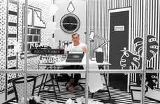Livestreamed Achromatic Workspaces - This Pop-Up by Agency Wieden + Kennedy Attracts Collaborators