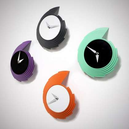 Graphic Digit-Less Clocks