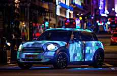 Vibrant Video-Streaming Vehicles - The MINI Art Beat Drives Across London Playing Social Media Posts