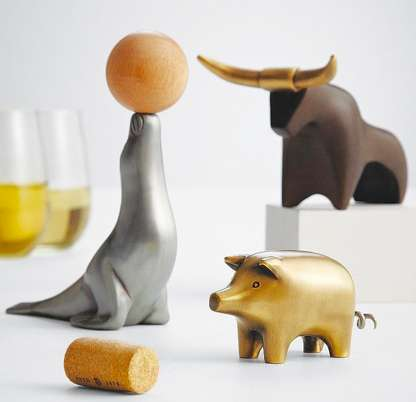 Put a Different Spin on Your Bottles with the Animal Corkscrew