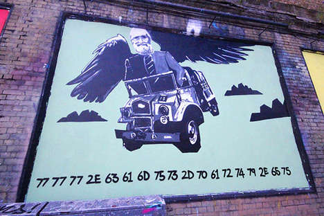 Geeky Code-Revealing Graffiti - This UK Graffiti Project Challenges Geeks to Crack a Secret Code