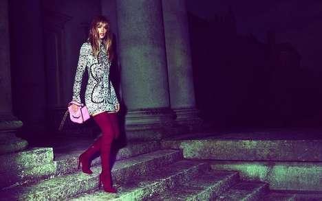 Vibrant Nighttime Fashion