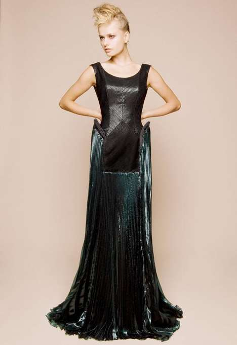 Subtly Futuristic Gowns