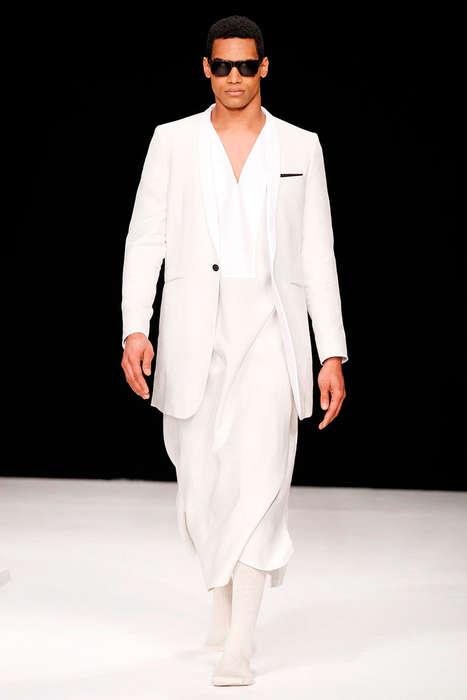 Luxuriously Draped Menswear