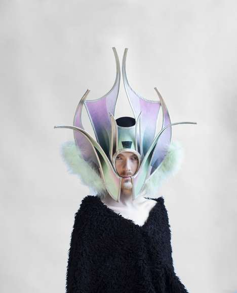 Sculptural Cyborg Headpieces