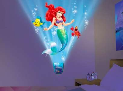 Special Effect Room Decals - The Little Mermaid Wall Brightens up a Room with Favorite Characters