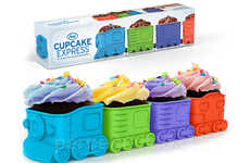 Train-Inspired Cupcake Trays - These Train Baking Cups ae Perfect for a Kid's Birthday Party