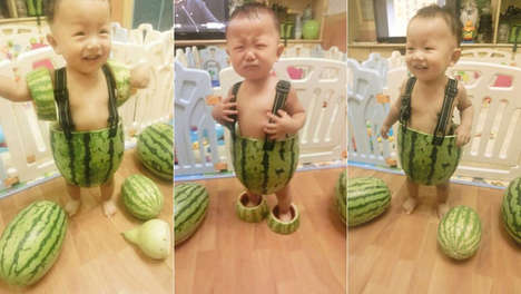 These Dapper Chinese Watermelon Babies Creatively Beat the Heat