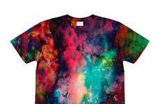 Galactic T-Shirt Collections - The Ovidius Psychedelia and Elysium Tees Feature Visionary Imagery