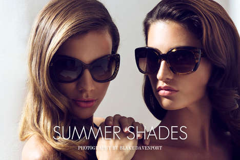 Glamorous Sunglasses Editorials