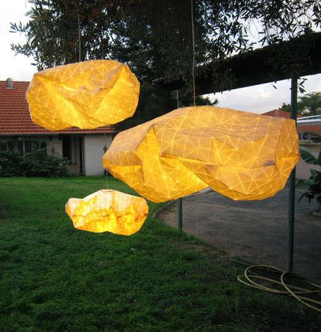 Crumpled Cloud Lanterns
