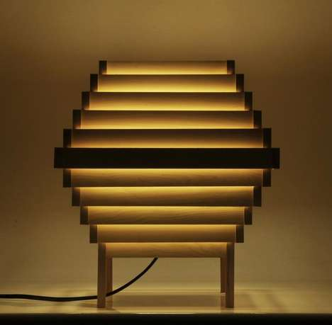 This Handmade Wooden Lamp Starts Off as a Simple Cubic Frame