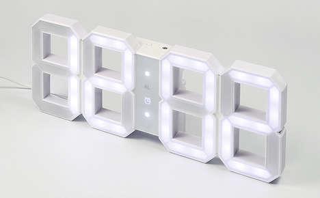 Digit-Shaped LED Clocks