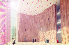Architectural Rock-Climbing Havens - The Collider Activity Center Four Faces Building is Communal