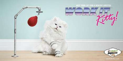 DDB's Temptations Cat Treats Ads Proposes Cardio for Your Furry Feline