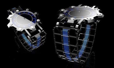 Ninja Star-Like Timepieces