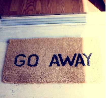 Anti-Social Welcome Mats - The 'Go Away' Doormat from Fancy Says it Like it Is