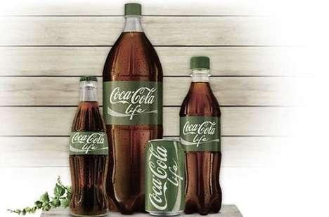 Green Plant-Based Sodas