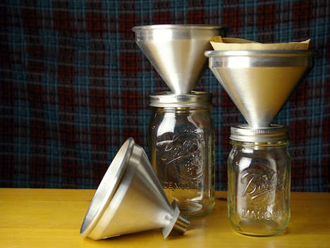 Hipster Coffee Filters - The Intelligent Design Co. Mason Jar Coffee Tool Makes Java on-the-Go