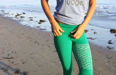 Mermaid-Inspired Activewear - These Yoga Wear Leggings are Designed to Look Like a Mermaid Tail