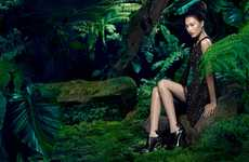 Enchanting Forest Fashion Ads - The Vera Wang Fall Campaign Stars a Nature-Loving Shu Pei