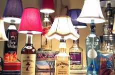 Alcohol Bottle Lamps - Reuse Old Bottles Using These Instructions from Tip Junkie