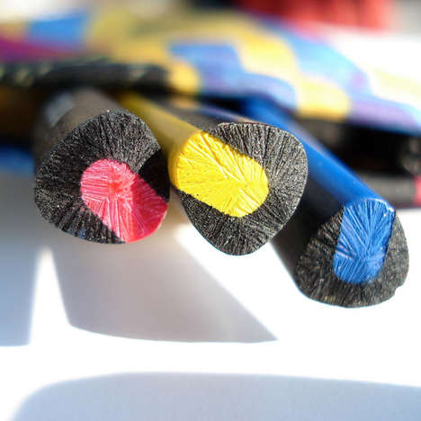 Vibrant Exposed Pencils