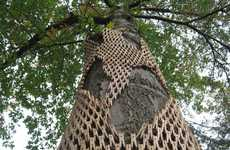 Arboreal Clip Adornments - Gerry Stecca Uses Thousands of Clothespins in His Wrapped Tree Project