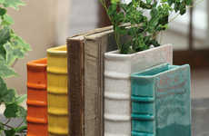 Hybrid Bookend Planters - Add Lovely Flowers to Your Bookshelf with the Terracotta Bookend Vase