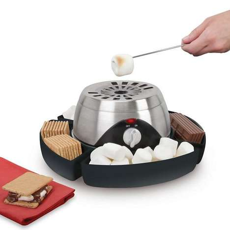 Faux Flame Confection Roasters - The Indoor Flameless Marshmallow Roaster Brings the Campsite Inside